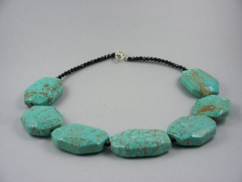 turquoise faceted onyx necklace