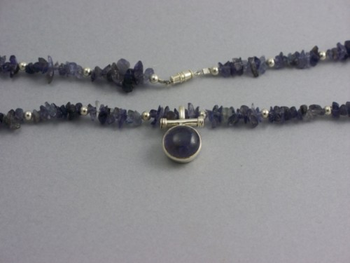 Sterling Silver & Amethyst Tibetan Necklace