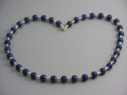 sterling silver and lapis lazuli necklace