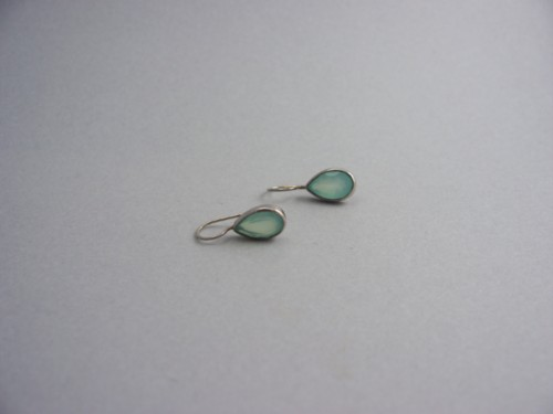 Sundance Smoky Aquamarine Tear Drop Hanging Pierced Earrings