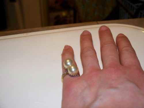 antique pearl ring rolled gold and diamonds