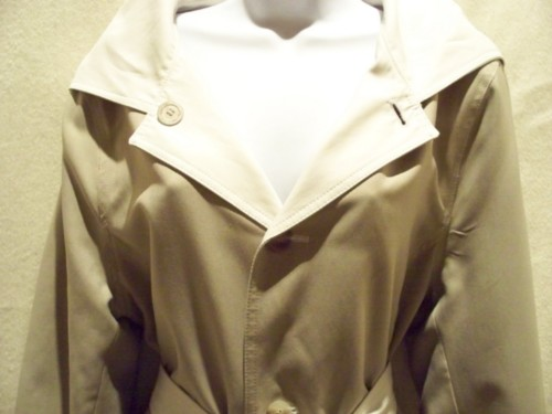 Calvin Klein Reversible Beige-To- White Trench Coat Size 10