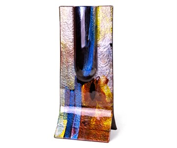 Metalic Fused Glass Vase