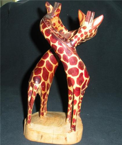 Hand Carved Giraffes from Kenya