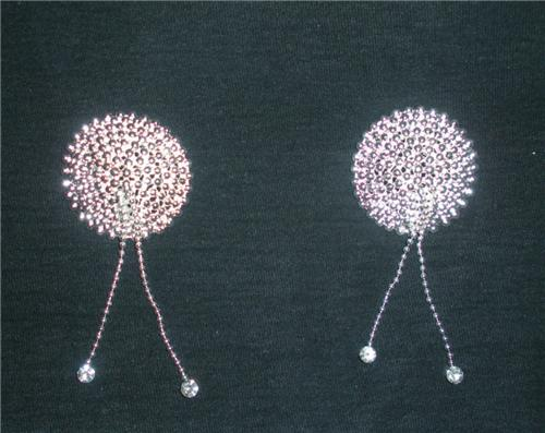 Sterling Silver and Swarovski Crystal Pasties