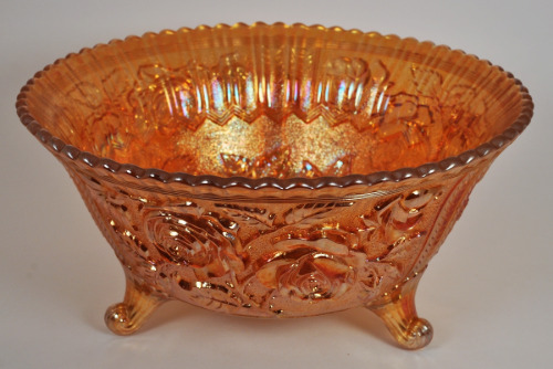 Imperial Glass Marigold Rose Footed Bowl