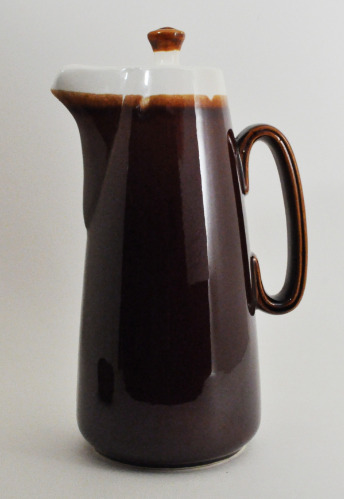 Brown Drip Coffee Carafe Oven Proof USA