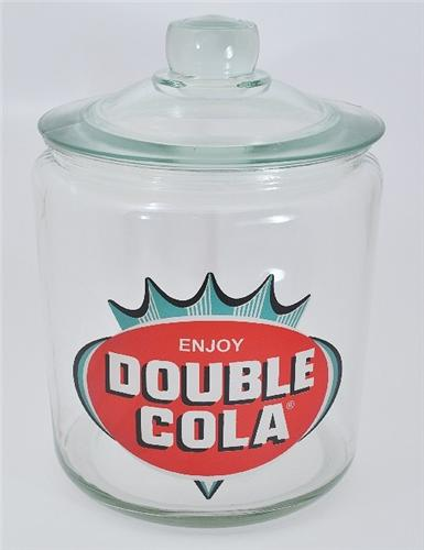 New Double Cola Advertising Counter Kitchen Display Snack Cookie Chip Jar