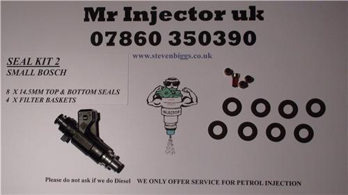 Fuel injector service kit bosch 0280155 fiat peugeot vw our seal kit 2