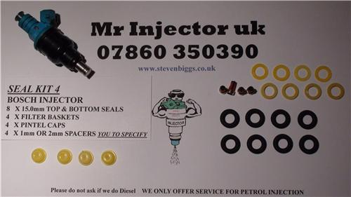 Fuel injector service kit Lucas our seal kit No 4