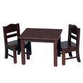 Doll Table and Chair Set Espresso