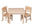Doll Table and Chair Set Natural