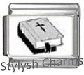 Italian Charm BIBLE BLACK AND WHITE RELIGIOUS Photo Charm RE063