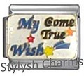 WISH COME TRUE Enamel Italian Charm 9mm - 1 x NC113 Single Bracelet Link