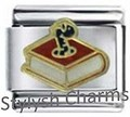 BOOK BOOKWORM SCHOOL TEACHER Enamel Italian Charm 9mm - 1 x NC119 Single Link