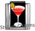 COCKTAIL RED ROVER MARTINI Photo Italian Charm 9mm-1x NC149 Single Bracelet Link