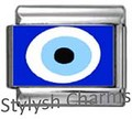 TURKISH EVIL EYE LUCKY Photo Italian Charm 9mm - 1 x NC150 Single Bracelet Link