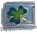 IRISH SHAMROCK LUCKY MOOD Changing Enamel Italian Charm 9mm-1x NC166 Single Link