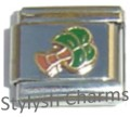 PALM TREE TROPICAL ISLAND Enamel Italian Charm 9mm Link - 1 x GA004 Single Link