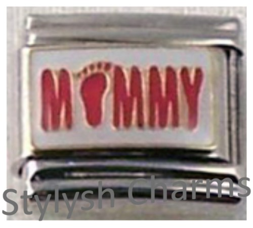 FA079 Italian Charm MOTHER MOMMY Enamel Charm