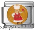 CHEF COOK COOKING Enamel Italian Charm 9mm Link- 1 x FO036 Single Bracelet Link