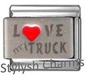 VEHICLE LOVE MY TRUCK RH Laser Italian Charm 9mm- 1 x NC084 Single Bracelet Link