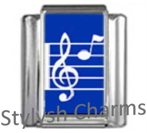 MD002 Italian Charm MUSIC MUSICAL NOTE Photo Charm