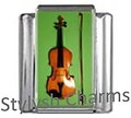MUSIC VIOLIN and BOW MUSIC Photo Italian Charm 9mm Link - 1 x MD003 Single Link