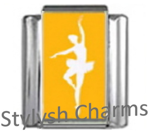 MD005 Italian Charm BALLET BALLERINA Photo Charm