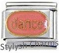 DANCE for DANCER Enamel Italian Charm 9mm Link - 1x MD039 Single Bracelet Link