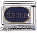 DANCE for DANCER Enamel Italian Charm 9mm Link - 1x MD040 Single Bracelet Link