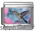 BI009 Italian Charm HUMMINGBIRD Photo Charm