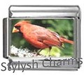 BI012 Italian Charm RED CARDINAL BIRD Photo Charm