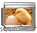 BI014 Italian Charm CHICKEN FARM COUNTRY Photo Charm