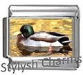 BI018 Italian Charm MALLARD DUCK BIRD Photo Charm