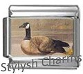 BI025 Italian Charm CANADA GEESE BIRD Photo Charm