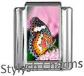 BI030 Italian Charm BUTTERFLY INSECT Photo Charm