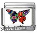 BI037 Italian Charm BUTTERFLY INSECT Photo Charm