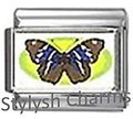 BI043 Italian Charm BUTTERFLY INSECT Photo Charm