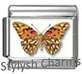BI047 Italian Charm BUTTERFLY INSECT Photo Charm