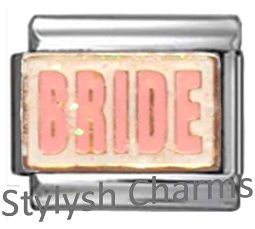 FA048 Italian Charm BRIDE MARRIAGE MARRIED LOVE Enamel Charm