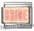 BRIDE MARRIAGE MARRIED LOVE Enamel Italian Charm 9mm - 1 x FA048 Single Link