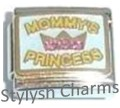 MOM MOMMYS PRINCESS CZ RHINESTONES Enamel Italian Charm 9mm-1x FA050 Single Link