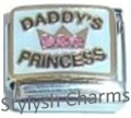 DAD DADDYS PRINCESS CZ RHINESTONES Enamel Italian Charm 9mm-1x FA120 Single Link