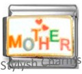 MOTHER MOM MUM HEARTS Enamel Italian Charm 9mm - 1 x FA122 Single Bracelet Link
