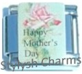 MOTHER HAPPY MOTHERS DAY Enamel Italian Charm 9mm- 1x FA123 Single Bracelet Link