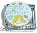 MOM MOMMYS LIL ANGEL Enamel Italian Charm 9mm - 1 x FA124 Single Bracelet Link