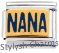 NANA GRANDMOTHER Enamel Italian Charm 9mm - 1 x FA131 Single Bracelet Link