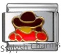 COWBOY COUNTRY HORSE Enamel Italian Charm 9mm - 1 x HO067 Single Bracelet Link
