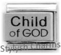 CHILD OF GOD Laser Engraved Italian Charm 9mm - 1 x LC194 Single Bracelet Link